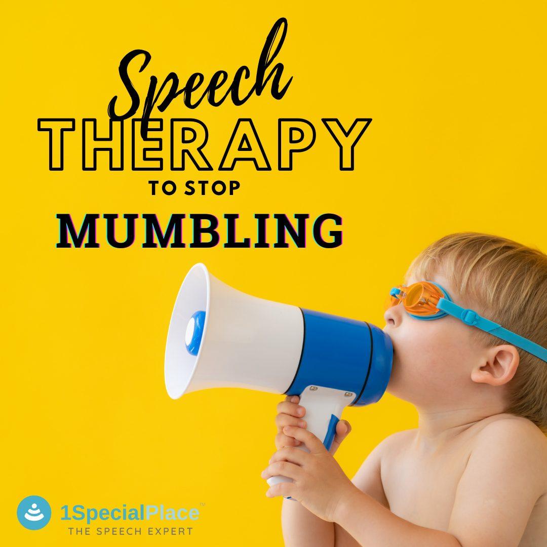 speech therapy mumbling